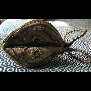 Handbags - So cute Small Fortune Cookie Bag Gold Never used